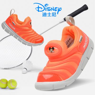 迪士尼童鞋毛毛虫鞋女童2019春季新款一脚蹬防滑软底儿童运动鞋