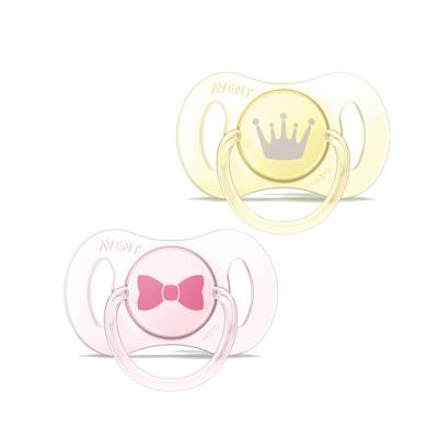 飞利浦AVENT 新安怡新生儿系列安抚奶嘴(0-2个月) 硅胶 2个装女宝SCF151/02 标准口径