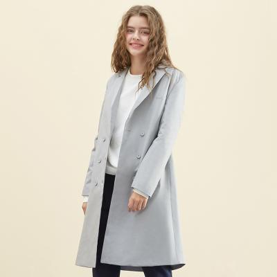 【3件1.5折价:67.4】美特斯邦威长外套女秋新款舒适复古西装式外套
