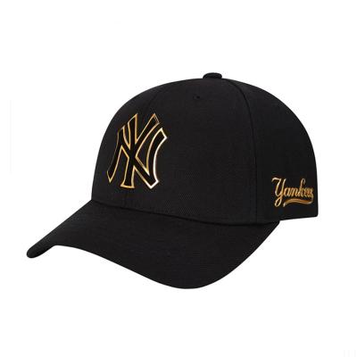MLB正品男女情侶款棒球帽子亞克力閃亮ny洋基隊學生戶外彎檐休閑運動鴨舌帽