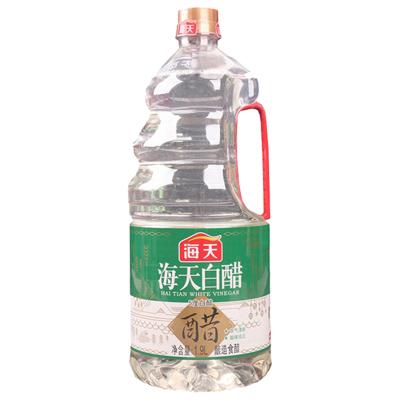 海天5度白醋1.9L涼拌醋洗臉泡腳足浴用的除垢清潔米醋非醋精