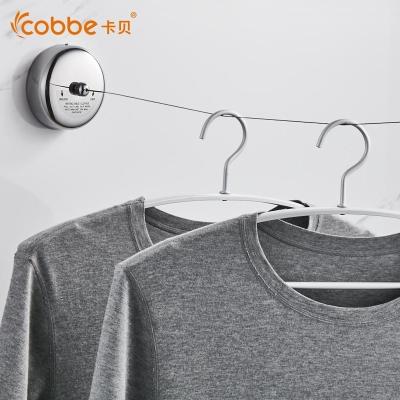卡贝(cobbe)隐形晾衣绳室内免打孔不锈钢丝晾衣架晾衣神器可伸缩晾衣绳子 圆尼龙-2.8M