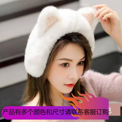 2019耳罩冬天加厚保暖仿皮毛一體女可愛貓耳耳套毛毛護耳耳包耳捂耳暖