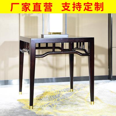 邁菲詩新中式沙發現代中式實木配套腳幾角幾方臺小方桌小茶幾工廠定制