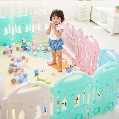 澳貝 奇妙火車游戲圍欄12+2 兒童嬰兒圍欄寶寶防護欄防摔柵欄玩具