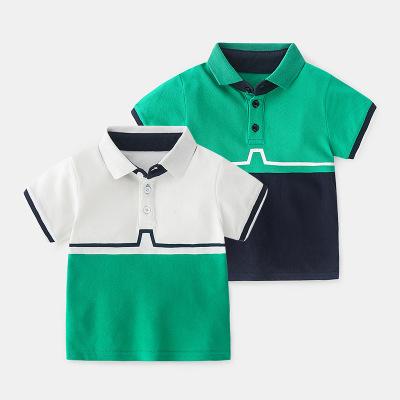 寶寶短袖T恤2020夏天中小童Polo衫夏季男童純棉半袖拼色夏裝上衣
