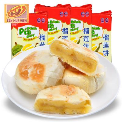 越南進口 新華園 榴蓮餅400gX4袋組合特惠裝 網紅零食 休閑食品早餐下午茶