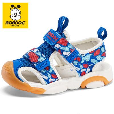 BOBDOG HOUSE巴布豆童鞋兒童涼鞋夏季男童女童寶寶1-3歲沙灘鞋子B6254