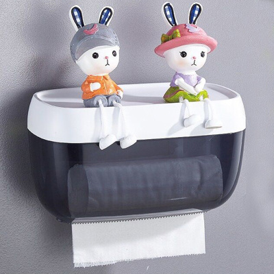优勤厕所纸巾盒卷纸筒厕纸盒卫生间浴室置物架抽纸盒壁挂式防水卫生纸免打孔