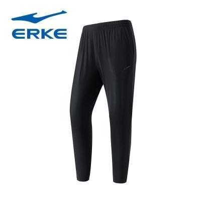 鸿星尔克(ERKE)新款男士针织休闲裤简约运动裤九分裤男裤