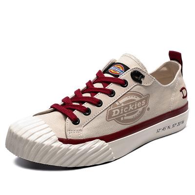 DICKIES女鞋春季新款帆布鞋复古港味低帮百搭板鞋时尚潮鞋子191W50LXS15