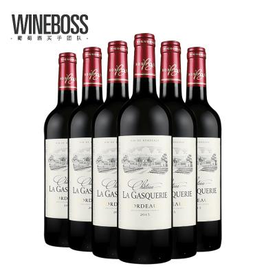 瓦兰德鲁 法国原瓶进口红酒 原装木箱整箱干红葡萄酒 波尔多aoc