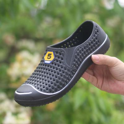 洞洞鞋新款塑胶沙滩鞋防滑透气男士夏季包头镂空懒人凉鞋