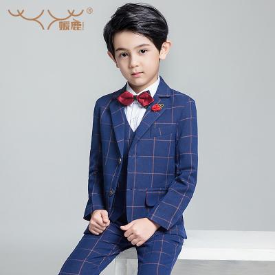 新品热卖儿童西服男小西装套装男童主持人英伦风男孩花童礼服韩版表演帅气潮款