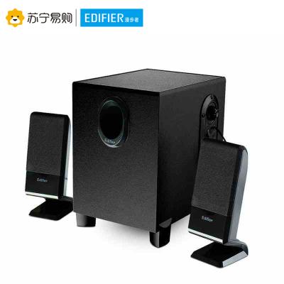 Edifier/漫步者 R101V 笔记本电脑有源音响家用台式2.1声道迷你小音箱重低音炮 黑色