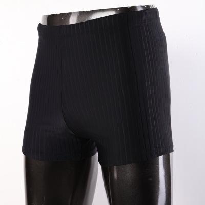 夏艷新款成人溫泉男士平角泳褲大碼黑色運動沙灘褲