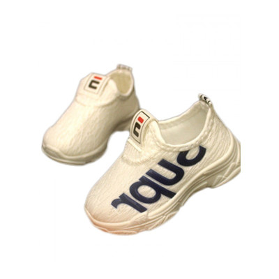18公主(SHIBAGONGZHU)兒童面運動鞋休閑鞋春秋男女童軟底套腳小白鞋透氣1-6歲寶寶鞋