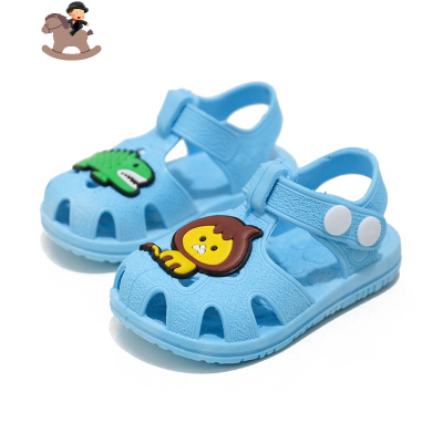 兒童包頭防尿學步鞋夏季嬰兒軟底 0-1-2-3男女童寶寶居家防滑涼鞋 YueBin