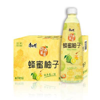 康师傅 轻养果荟 蜂蜜柚子500ml*15瓶 箱装 果味饮品