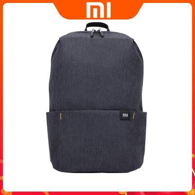 小米雙肩包小背包男女通用運動包日常休閑雙肩包學生書包旅行包黑色15L