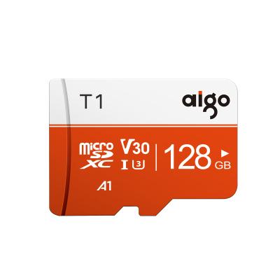 爱国者(aigo)128GB TF(MicroSD)存储卡 T1高速版 读速97MB/s U3