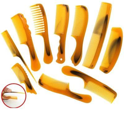 10件套牛筋梳折不断梳子牛筋梳塑料梳子宽齿密齿梳大中小号