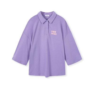 巴拉巴拉童装女童t恤儿童上衣秋装2019新款中大童时尚印花Polo衫