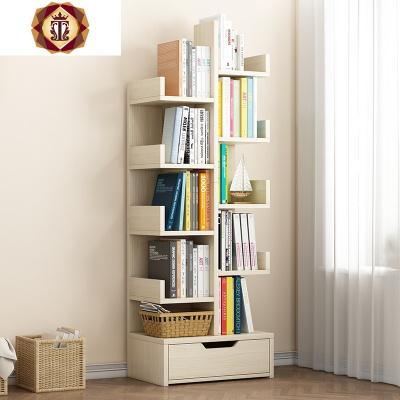 书架落地简易家用客厅省空间经济型书柜简约现代书桌收纳置物架子