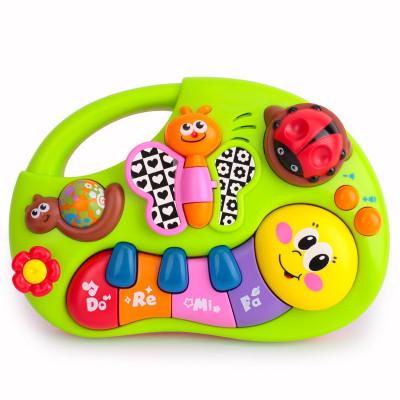 匯樂玩具(HUILE TOYS)手指啟蒙學習琴 927 掌上益智學習琴/嬰兒寶寶哄睡安撫音樂玩具 塑料/0-6-12個月