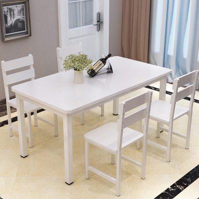餐桌椅组合简约现代餐桌长方形家用小户型经济型吃饭桌子4人/6人