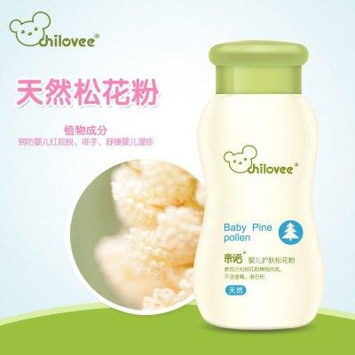 亲诺(chilovee)婴儿护肤松花粉 70g 痱子粉 护臀 预防红屁屁 湿疹 尿布疹 热痱 不含滑石粉