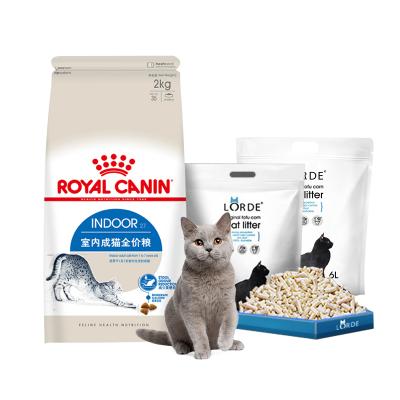 【超燃组合】皇家室内成猫粮2kg*l+LORDE豆腐猫砂 2.6kg/6L装*2