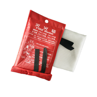 防火毯 2x2玻璃纖維滅火毯消防認證消防毯酒店家用逃生毯國標正品 實惠1米*1米0.3mm厚袋裝白色