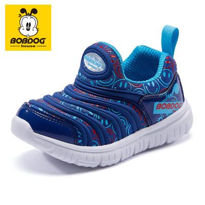 巴布豆BOBDOG HOUSE兒童毛毛蟲童鞋2020春款男童女童寶寶鞋子休閑鞋B2183