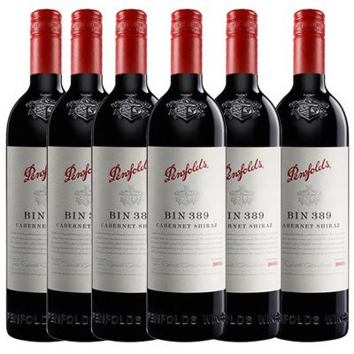 6瓶裝|奔富(Penfolds )BIN389赤霞珠設拉子干紅葡萄酒 750ml/瓶 澳大利亞進口