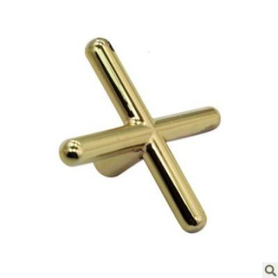 运动户外美式斯诺克台球桌用三角挂钩铜高架 十字架低叉台球l架杆用品配件放心购