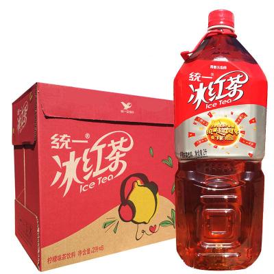 統一冰紅茶2L*6瓶整箱 大瓶冰紅茶檸檬味飲料