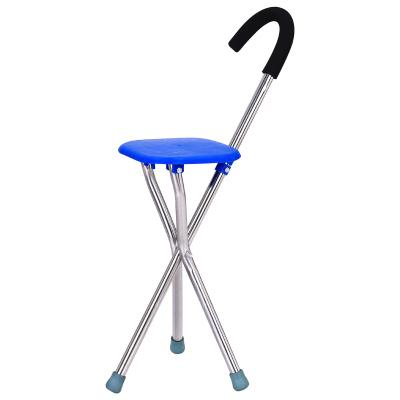 拐杖老人凳子多功能帶坐輕便防滑拐棍四腳老年手杖折疊智能拐扙椅