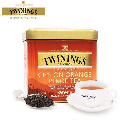 英国川宁Twinings红茶 进口锡兰红茶茶叶罐装100g 29685