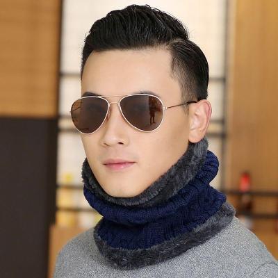 脖套男冬保暖加絨加厚多功能年輕人女冬季針織套頭韓版圍脖男毛線