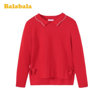 巴拉巴拉女大童毛衣兒童春裝套頭針織衫打底衫洋氣韓版毛衫百搭潮