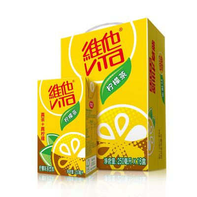 維他奶(Vitasoy) 維他檸檬茶250ml*16瓶/箱 地道港式檸檬茶飲料