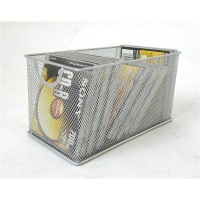 馬尚來家居鐵網藝光盤盒創意CD架子大容量DVD盒光碟收納架盒碟片