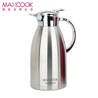 美廚 304不銹鋼真空保溫壺保溫水壺2L 大容量防滑咖啡壺 爵士系列