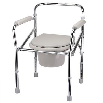 魚躍(YUWELL)坐便椅H022B 可折疊孕婦殘疾人不銹鋼老人老年人坐便洗澡器座便椅家用馬桶凳