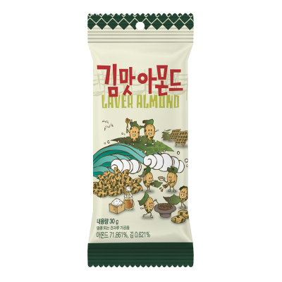 【香脆海苔味】汤姆农?。═om's Farm)海苔味扁桃仁 30g/袋 进口坚果 巴旦木 杏仁 休闲零食 韩国进口