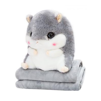 生日 礼物 女生 创意礼品 实用 可爱萌 仓鼠 龙猫 娃娃 公仔玩偶 睡觉 冬天 暖手 抱枕 毛绒 玩具 送毛毯