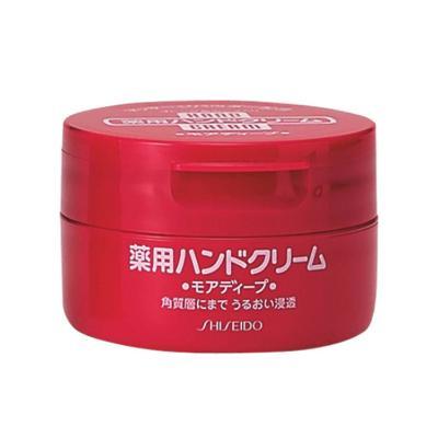 【深入角质 滋润呵护】资生堂(SHISEIDO) HANDCREAM 美润 药用美肌护手霜 圆罐装 100g