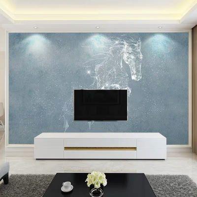 電視墻閃電客背景墻貼3d立體自粘墻壁紙防水防潮防霉貼紙可擦洗臥室溫馨 款式2 特大