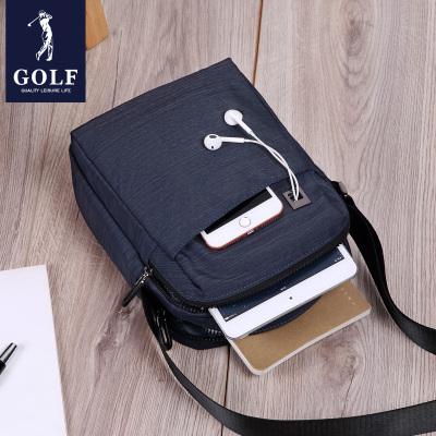 高爾夫(GOLF)男包單肩包豎款男士斜挎包包牛津紡休閑商務單肩包帆布包小背包2020新品